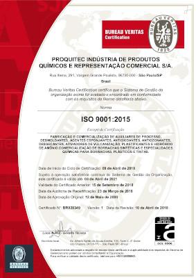 Certificação Proquitec ISO 9001